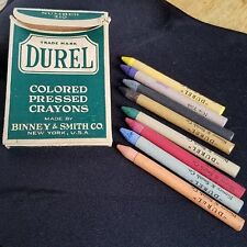 ANTIQUE BINNEY & SMITH CO. NEW YORK DUREL NUMBER 210 8ct COLORED PRESSED CRAYONS