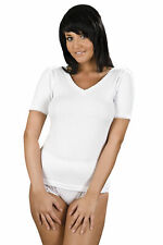 Ladies La-Marquise Thermal Short Sleeve V Neck Spencer Vest Underwear Ski Wear