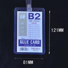 Cheap B2 Custom Lanyard ID Badge Card Key Holder Ring Case Pocket Neck Strap VM