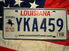 LOUISIANA license licence plate plates USA NUMBER AMERICAN REGISTRATION