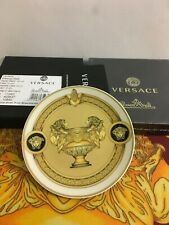 VERSACE PRESTIGE MEDUSA LION PLATE SIDE DISH CANDY COASTER GOLD NEW CHRISTMAS