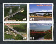 Dominican Republic 2015 MNH Bridges 4v Block Tourism Architecture Stamps