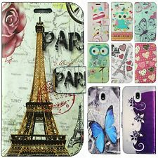 For Samsung Galaxy J3 Achieve Premium Leather Wallet Case Pouch Phone Cover