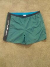 SWIM TRUNKS SPEEDO MENS SIZE XL 42 X 7 GREEN BLACK MESH free shipping