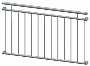Französischer Balkon Modell Lyon verzinkt - vorgesetzt