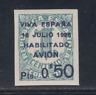 CANARIAS - ESPAÑA (1936) NUEVO SIN FIJASELLOS MNH - EDIFIL 1 (0,50 +1 cts) LOTE1