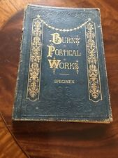 Burns Poetical Works. Specimen. Part 1. Virtue and Co. London c 1870