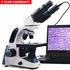 Compuesto binocular biológico SWIFT 40X-2500X LED Digital Microscopio +1.3MP Cam