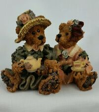 Boyds Bears Emma & Bailey Afternoon Tea #2277 Figurine Collectible Vintage