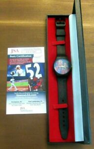 DR J JULIUS ERVING & KAREEM ABDUL JABBAR 76'ers Lakers HOF SIGNED AUTO WATCH JSA