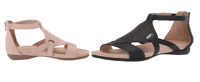 NWOB!! Soul Naturalizer Women's Avonlee Crisscross Flat Zipper Sandals Variety