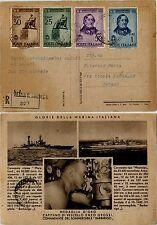 REGNO-ROSSINI(S100)-Cartolina raccomandata GLORIE MARINA ITALIANA-24.7.1943