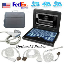 Laptop Machine Ultrasound Scanner with 2 Probes,Convex,Linear,Cardiac,Vaginal,US