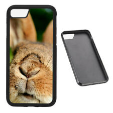 Cute bunny nose RUBBER phone case Fits iPhone