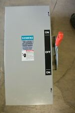 SIEMENS DTNF322 3P 240V 60 AMP NON FUSIBLE DOUBLE THROW DISCONNECT - USED