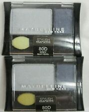 Maybelline Expert Wear Eye Shadow #80D Grey Matters Lot of 2 Stylish Smokes New
