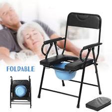 Pregnant Elder Folding Bedside Bathroom Toilet Chair Commode Seat Shower + Potty