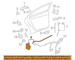 Pontiac GM OEM 07-10 G6 Rear Door-Lock Actuator Motor 20777854