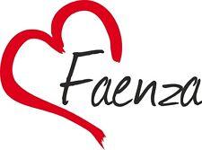 Auto Aufkleber FAENZA Sticker Stadt Italien ca.9x12cm konturg.