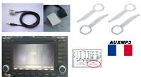 Cable auxiliaire mp3 pour autoradio RNS2 VW T5 multivan + 4 clé extraction