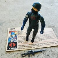 Vintage GI Joe Figure 1982-83 Cobra Soldier complete with file card