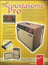 Fender Acoustasonic Pro Series Guitar Amp ad 8 x 11 amplifier advertisement