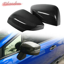 Dry Carbon Fiber Side Mirror Trim Cover For Subaru WRX STI 4th Exterior 15-17