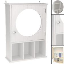 Spiegelschrank fürs Badezimmer in weiss Badregal Badschrank Ablagefächer Wand