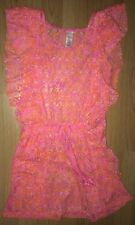Justice Hot Pink Swim Suit Cover Up Dress Size 10 Girl's EUC