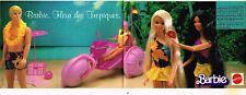 Publicité advertising 1986 (2 pages) Poupée Barbie de Mattel