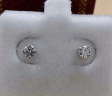 0.30 TCW Diamond Stud Earrings 14K White Gold, G-H Color, VS1-2 Clarity!