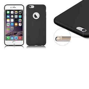 Cover case custodia Iphone 6/6S TPU ultra slim silicone nera morbida 0,3mm