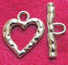 50Sets WHOLESALE Tibetan Antique Silver Huge HEART Toggle Clasps Connector Q0727