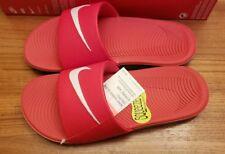 NEW Nike Kawa Kids Slide Sandals 4 / 5 / 6 Boys Girls RED WHITE GRAY    #5561118