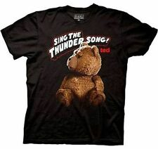 Authentic Ted The Movie Sign The Thunder Song Adult Teddy Bear T Shirt Xl