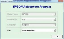 Reset Epson Xp960 with Serial Generator