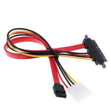 22 Pin 7 + 15 Buchse auf 7 PIN Buchse / LP4 Stecker SATA Datenkabel Power