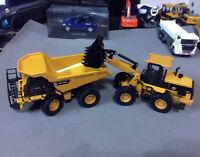 DieCast Model Construction vehicles Off-Highway Truck & Wheel Loader - 2 Units
