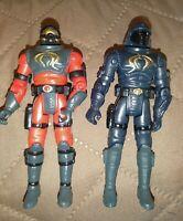 2002 GI Joe Lot of 2 Action Figures - Neo Viper V3 and Wild Weasel V2 Gi Joe Lot