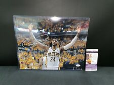 PAUL GEORGE INDIANA PACERS SIGNED 11X14 PHOTO JSA COA LA CLIPPERS ALL-STAR