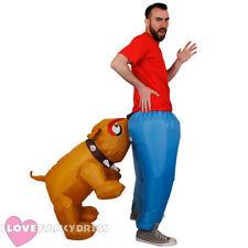 Inflable mordedura de perro Disfraz Adulto Novedad cartero Stag Fiesta De Disfraces