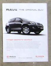 TOYOTA RAV4 SUV 4WD AWD Auto Car Magazine Page Sales Ad Advertisement Brochure