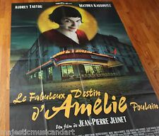 AMELIE ORIGINAL 2001 MOVIE POSTER from PARIS FRANCE HUGE 5 FEET TALL! EX+