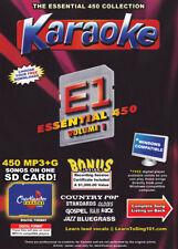 Essential 450  Karaoke Chartbuster Songs SD-Card Vol-1