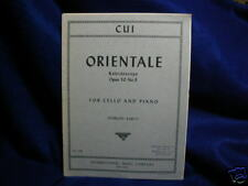 Cui Orientale Kaledoscope Op 50 No 9 Cello & Piano