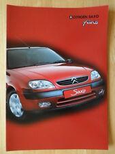 CITROEN Saxo Furio 2002 UK Market sales brochure
