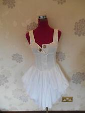 Beautiful All Saints Beaujolais  Dress White Size 14 BNWOT
