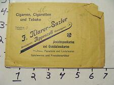 Vintage Travel Paper: small 1910's bag, KLARER-ENZLER CIGARETTEN