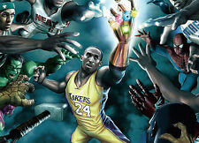 NBA: The Quest For The Ring Poster Marvel Kobe Bryant