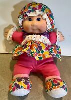 Cabbage Patch Kid Hasbro 1995 Baby with Rattle Sounds  Flowered Outfit